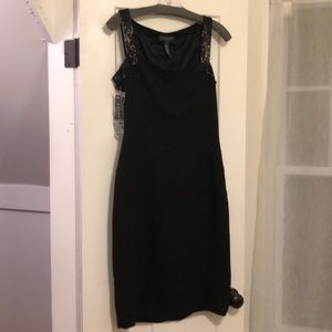 NWT Ralph Lauren Little Black Dress with Beads